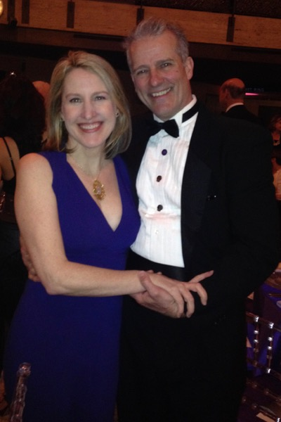 L.J. in black tie with his wife at the Paul Taylor Gala March '15